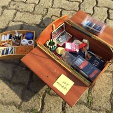 kleines Nähkästchen, 50er Jahre, Rockabilly, mit Inhalt, Garn, nadeln, Nähzeug