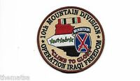 "ARMY 10TH MOUNTAIN CLIMB TO GLORY OPERATION IRAQI FREEDOM 4"" RIBBON PATCH"