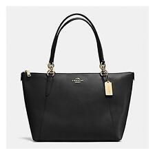 Authentic NWT COACH AVA TOTE IN CROSSGRAIN LEATHER  F57526 Black Tote Handbag