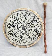 Grand fait à la main bhodran/chamaniques tambour sur cadre et Batteur - 28 cm