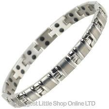 NEUF pour femmes Bracelet magnétique en titane 34 NdFeB aimants Santé +