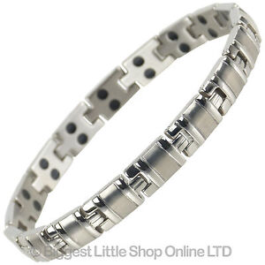 Sisto-X Femmes Titane Magnétique Bracelet Avec Finition Chrome Stylé 34 Ndfeb Ma