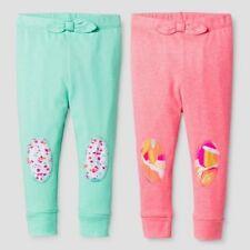 Oh Joy! Baby Girls' Floral Dot 2pk Pants Set - PInk/Green 24 Months NEW