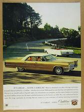 1966 Cadillac Sedan deVille & 1964 de ville Convertible photo vintage print Ad