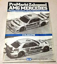 TAMIYA 1994 1/10 PROMARKT-ZAKSPEED AMG MERCEDED BENZ MANUAL FOR 58145