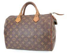 Authentic LOUIS VUITTON Speedy 30 Monogram Boston Handbag Purse #38114
