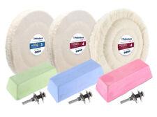 9-tlg. Edelstahl VA Polierset 150 mm Polierscheiben Pasten für Bohrmaschine