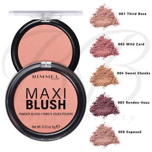 RIMMEL Maxi Blush Face Blusher Compact Pressed Powder 9g *CHOOSE SHADE* NEW