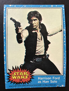 1977 Topps Star Wars #58 Harrison Ford Han Solo Good Condition