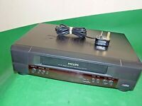 PHILIPS VR520 Video Cassette Recorder VHS Smart VCR Black Slim Small