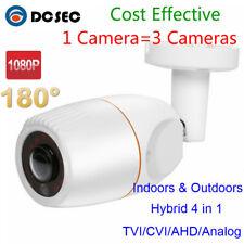 HD 2MP 1080P AHD Mini CCTV Bullet Camera Wide Angle 180 Degree Outdoor BNC