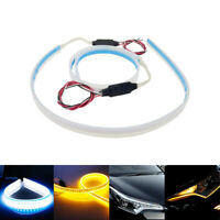 2x 30cm Weiß&Amber LED Streifen Tube DRL Tagfahrlicht Blinker Lampe Leuchte /