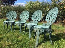 Vintage Ornate Patio Garden Chairs Furniture Bistro Set ~ Set Of 4