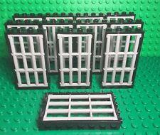 Lego X12 Bulk Lattice Barred Bar W/ Black Door Frame 1x4x6 Police prison Part