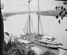 Federal Transport Ships Artillery James River 1865 New 8x10 US Civil War Photo