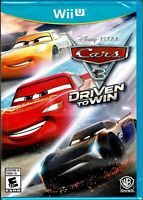 Cars 3 Driven to Win Wii U New 20+ Cars 20+ Tracks Become The Ultimate Racer