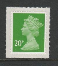 GB 2011 Machin Definitive SA 20p bright green SG U3059 MNH (2B)