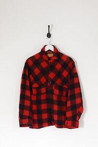Vintage Checked Woollen Shacket Red/Black (M)