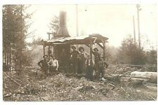 Real Photo Postcard of a Donkey Engine in Clark or Skagit County WA c1915