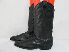 Vittorio Ricci Studio Black Leather Cowboy Western Boots Size 8.5 M