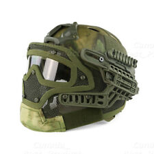 Tactical Protective Googles G4 System Full Face Mask Helmet Molle Paintball ATFG