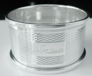 Boxed Immaculate Silver Napkin Ring, NORMAN, Birmingham 1963, Harman Brothers