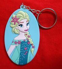 Elsa oval - Walt Disney's Frozen - Gummi Schlüsselanhänger / rubber keychain