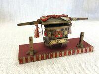 Vintage Giapponese Norimono Palanquin Hinamatsuri Miniatura Carrozza Doll Giorno