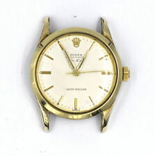 GENTS VINTAGE ROLEX  AIR KING OYSTER PERPETUAL WATCH 5506  14K GOLD PLAQUE/SS