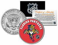 FLORIDA PANTHERS  NHL Hockey JFK Kennedy Half Dollar U.S. Coin * LICENSED *