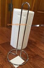 NEW HEAVY DUTY CHROME KITCHEN PAPER TOWEL HOLDER STAND RACK WHOLESALE