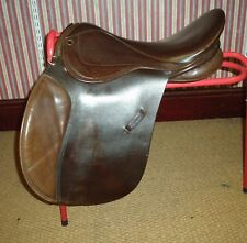 "Sandringham Brown Leather 17.5"" GP Saddle Wide Fitting"