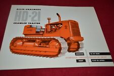 Allis Chalmers HD-21 Crawler Tractor Dealer's Brochure YABE14 vr2