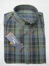 HARMONT&BLAINE camicia uomo mod.CX007 quadro col.MARRONE/VERDONE tg.XL inv.2012