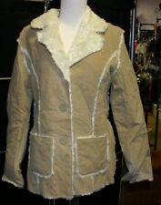 Cute & Snuggly warm Suede Faux fur winter jcket $80 NWT