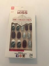 KISS THE COLLECTION NAILS PEACOCK FEATHER & GLITTER MEDIUM LENGTH KIT SSC07X