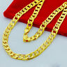 Heavy Classic Necklace Chain 30'' Solid Men's 24K Real Yellow gold Filled Chains