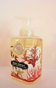 *MICHEL DESIGN WORKS Foaming SHEA BUTTER Liquid HAND SOAP 17.8 OZ ~ RED CORAL