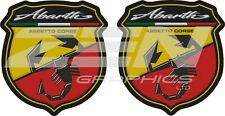 Fiat 500 595 Abarth Assetto corse wing Decals Stickers accessories styling 60mm