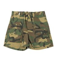 A1 Vintage 70s 80s High Waisted Army Camouflage Women Shorts 28in Waist Military