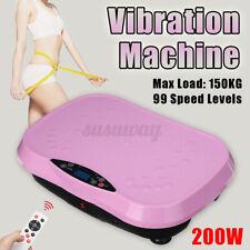 200W Slim Vibration Machine Trainer Gym Platform Body Shaper Exercise