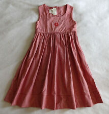 Strasburg Girls 4 Holiday Snowflake Portrait Red Sleeveless Jumper Dress Modest