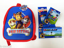 PACK MOCHILA + LAPICES + CERAS + ROTULADORES PATRULLA CANINA PAW PATROL