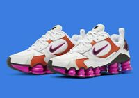 New Nike Shox TL Nova Women Size Running Shoes WHT/BLK/Violet AT8046 100