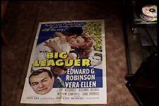 BIG LEAGUER 1953 ORIG MOVIE POSTER EDWARD G ROBINSON