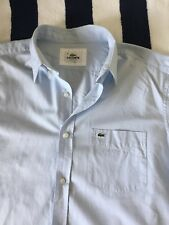 Mens Lacoste Short Sleeve Light Blue Shirt In Size 41, Large