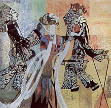 """Ting Shao Kuang     """"Shadow Play""""       Serigraph on Paper      TD"""