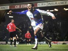 Signed David Bentley Blackburn Rovers Autograph Photo Hat Trick v Man utd