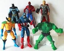 New 6Pcs The Avengers Hulk Wolverine Batman Action Figure Xmas Gift Toy
