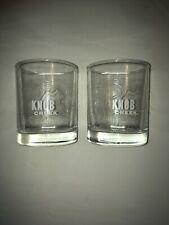 KNOB CREEK low ball rocks Whiskey Glasses, Topography Design. Set of 2